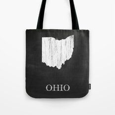 Ohio State Map Chalk Drawing Tote Bag