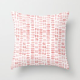 Abstract rectangles - dusty pink Throw Pillow