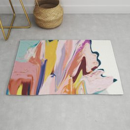 Bloom [2]: a colorful, abstract digital painting Rug