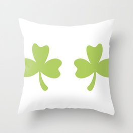 Shamrocks ST. Patrick's Day Women's Funny Throw Pillow
