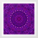 Purple Leaves Kaleidoscope Mandala by davidzydd