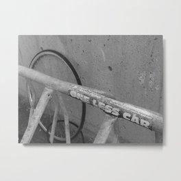 One Less Car - Street Art Metal Print