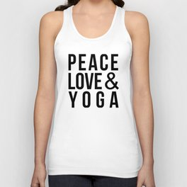 Peace Love & Yoga Unisex Tank Top
