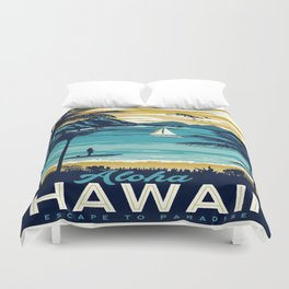 Vintage poster - Hawaii Duvet Cover