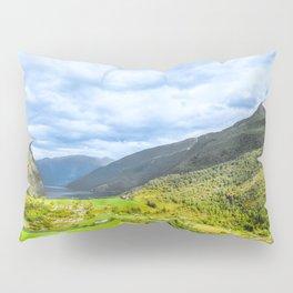 Small Village within mountains Pillow Sham