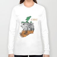 ruben ireland Long Sleeve T-shirts featuring Eire / Ireland by Dandy Octopus