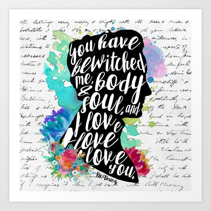 Mr.Darcy - I Love You Art Print