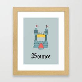 Bounce Framed Art Print