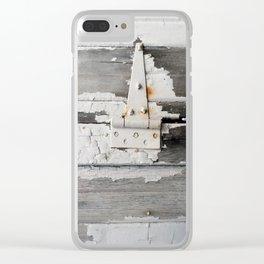 Hinge on Vintage Door Clear iPhone Case