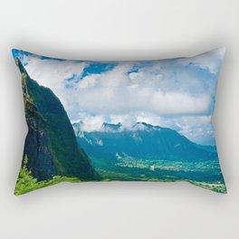 Pali Lookout View 1 Rectangular Pillow