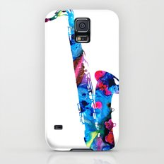 Colorful Saxophone by Sharon Cummings Slim Case Galaxy S5