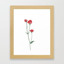 Flower kisses Framed Art Print