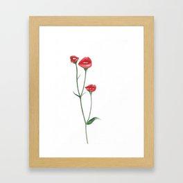 Flower kisses Framed Art Print