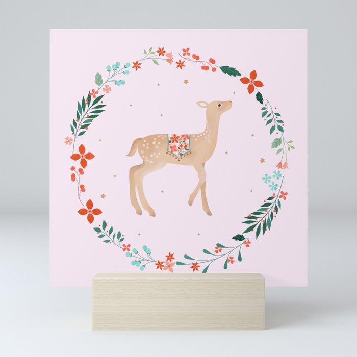 Winter Wreath Mini Art Print