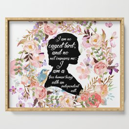 Jane Eyre Quote Serving Tray