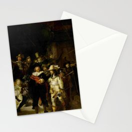 Rembrandt, The night watch, de nachtwacht Stationery Cards