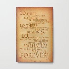 Viking Prayer Metal Print