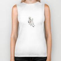 skeleton Biker Tanks featuring Skeleton by Anna Araslanova