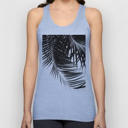 Palm Leaves Black & White Vibes #1 #tropical #decor #art #society6 Unisex Tank Top