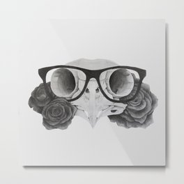 Owl: The Wise One Metal Print