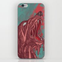 the hound iPhone & iPod Skins featuring HOUND CRY by DeerKat