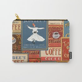 Vintage Coffee Labels Collage Carry-All Pouch