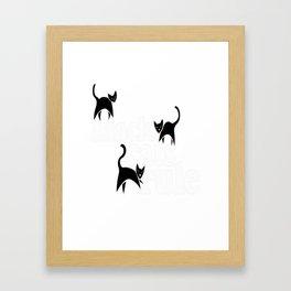 Black cats rule Framed Art Print