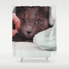 Cat by Giovanna Karla (givi) Shower Curtain