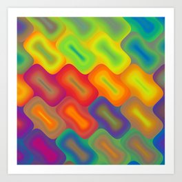 Colored Rectangles Art Print