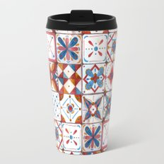 Tile pattern Travel Mug