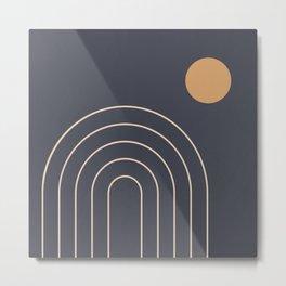 Minimal Geometric 84 Metal Print
