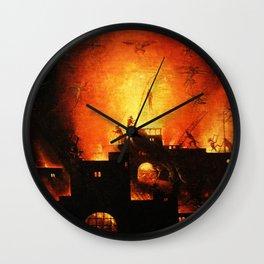 The flaming infurno Wall Clock
