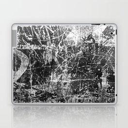 black abstract mono graffiti texture pattern Laptop & iPad Skin