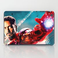 robert downey jr iPad Cases featuring R. DOWNEY JR. ** by Hands in the Sky