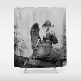 Angel. Novodevichy convent. Moscow. Shower Curtain