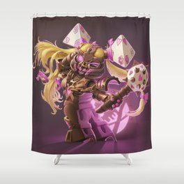 The Nefarious Nega-BlokTrix Shower Curtain