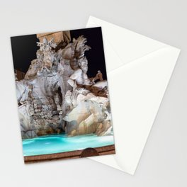 Four Rivers Fountain at night on Piazza Navona - Rome, Italy Stationery Cards