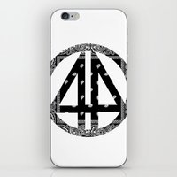 bands iPhone & iPod Skins featuring Floral bands by ART ON CLOTH