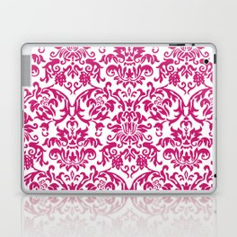 Elegant Damask Pattern (fuchsia) Laptop & iPad Skin