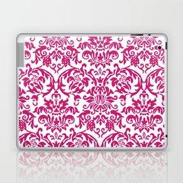 Elegant Damask Pattern (fuchsia) Laptop & iPad Skin