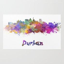 Durban skyline in watercolor Rug