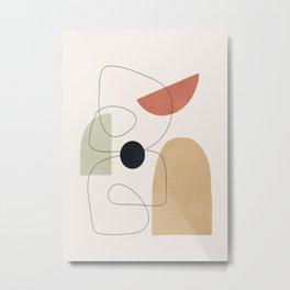Minimal Shapes No.51 Metal Print