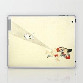 Samurai Farting On A Cat - Funny - Japanese - Samurai Laptop & iPad Skin