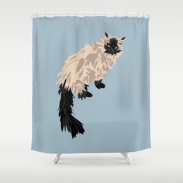 Gabe the cat Shower Curtain