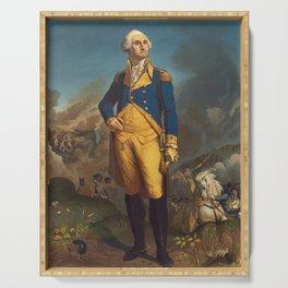 George Washington - Military Portrait Serving Tray