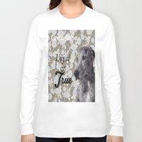great dane Long Sleeve T-shirts featuring Loyal & True (Great Dane) by Ricochet  Elm  Studio