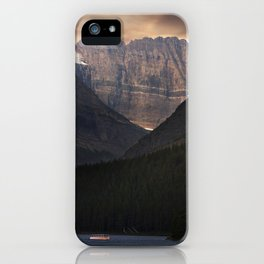 Sunrise Over Grinnell Glacier and Swiftcurrent Lake. iPhone Case