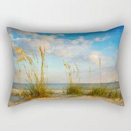 Sea Oats along the Beach Rectangular Pillow