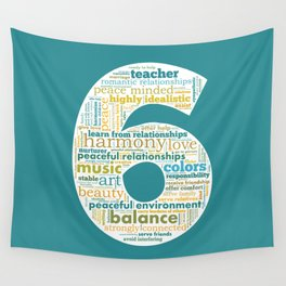 Life Path 6 (color background) Wall Tapestry