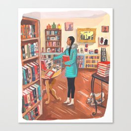 Word Up Books Canvas Print